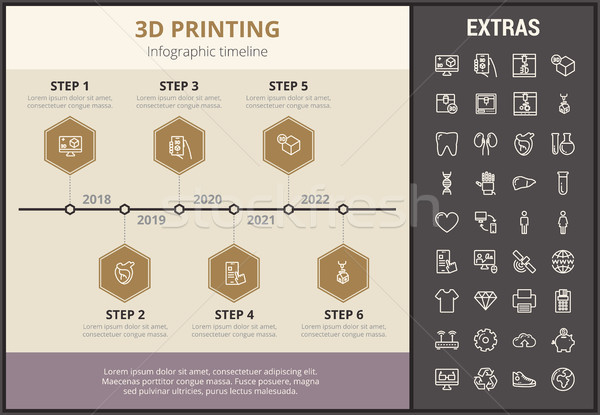 3D printing infographic template and elements. Stock photo © RAStudio