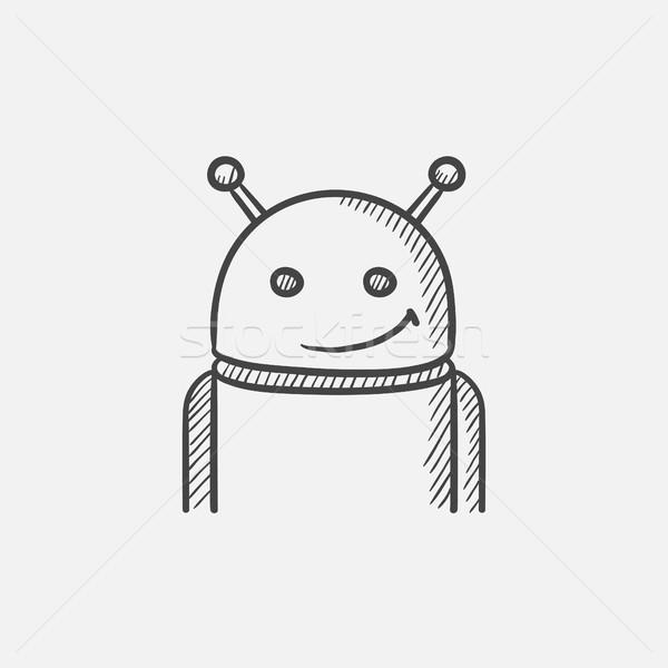Android schets icon web mobiele infographics Stockfoto © RAStudio
