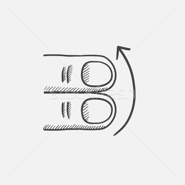 タッチスクリーン ジェスチャー スケッチ アイコン アップ 2 ストックフォト © RAStudio