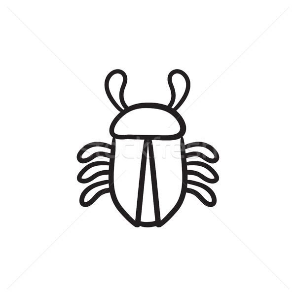 Computer bug sketch icon. Stock photo © RAStudio