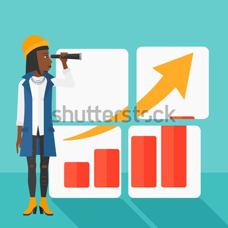 Woman searching opportunities for business growth. Stock photo © RAStudio
