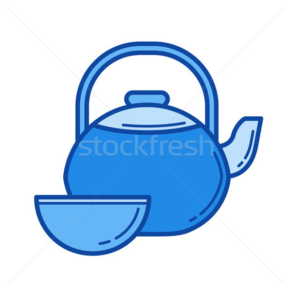 Tea ceremony line icon. Stock photo © RAStudio