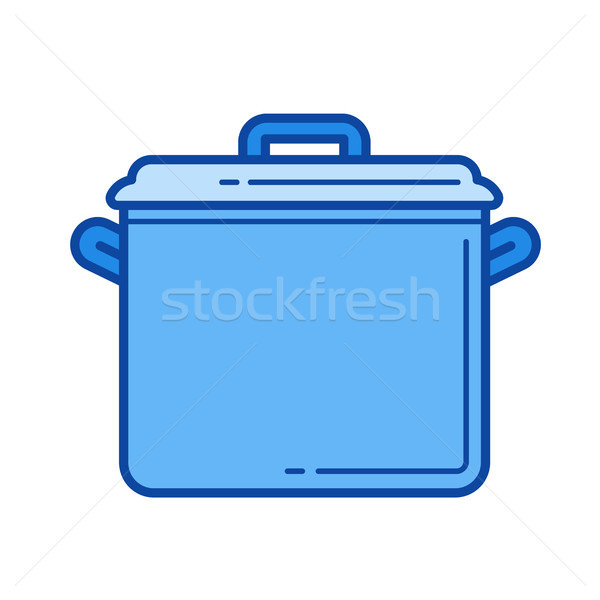 Saucepan line icon. Stock photo © RAStudio