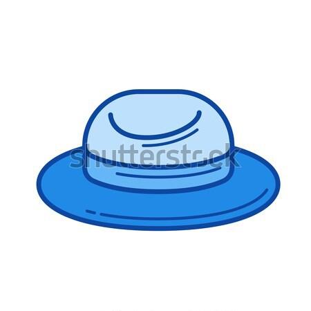 Felt hat line icon. Stock photo © RAStudio