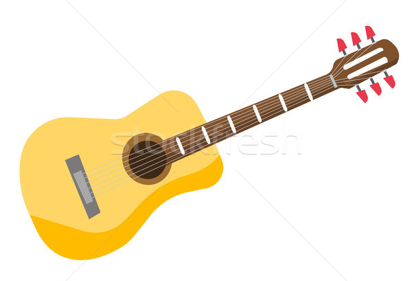 Classical acoustic guitar vector illustration. Stock photo © RAStudio