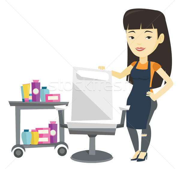 Hair stylist at workplace in barber shop. Stock photo © RAStudio