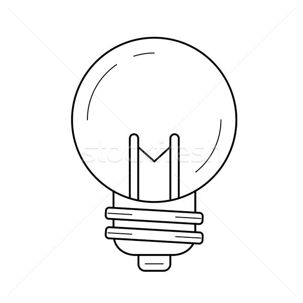 Idea lightbulb vector line icon. Stock photo © RAStudio
