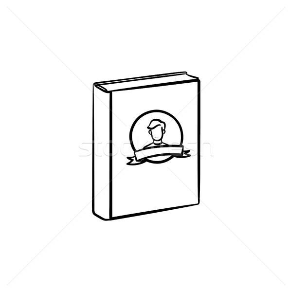 Family book hand drawn sketch icon. Stock photo © RAStudio