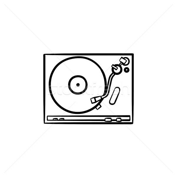 Draaitafel geluid mixer schets doodle Stockfoto © RAStudio