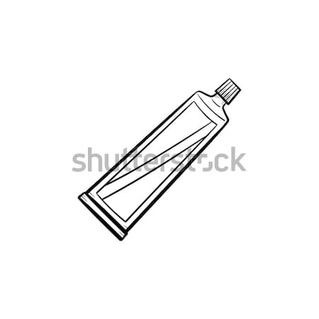 Tandpasta buis schets doodle icon Stockfoto © RAStudio