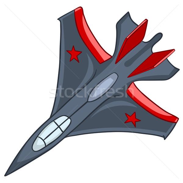 Karikatür uçak yalıtılmış beyaz vektör eps8 Stok fotoğraf © RAStudio