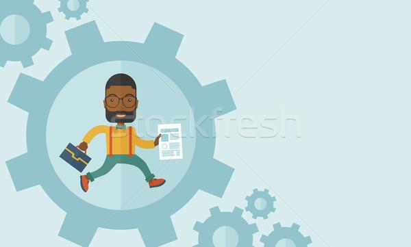 Człowiek worek papieru działalności wniosek Zdjęcia stock © RAStudio