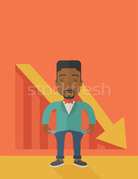 African businessman failed. Stock photo © RAStudio
