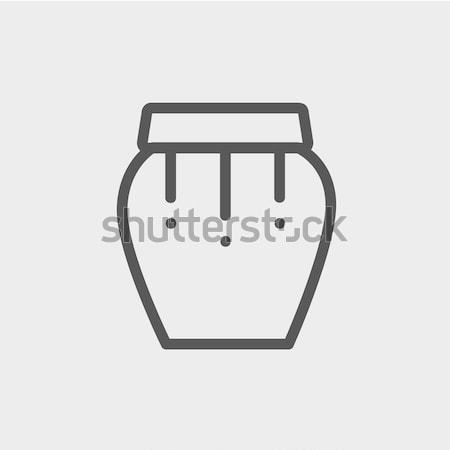 Percussion instrument thin line icon Stock photo © RAStudio