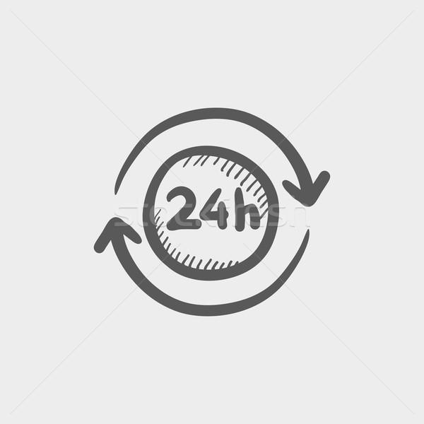 Covenience service 24 hrs sketch icon Stock photo © RAStudio