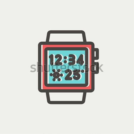 Smartwatch icon drawn in chalk. Stock photo © RAStudio