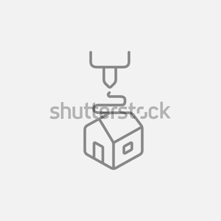Tree D printing line icon. Stock photo © RAStudio