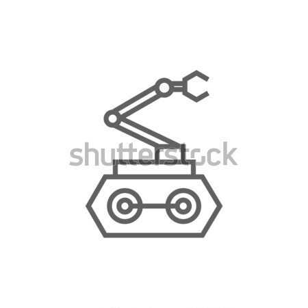 Industriellen mechanische Roboter Arm line Symbol Stock foto © RAStudio