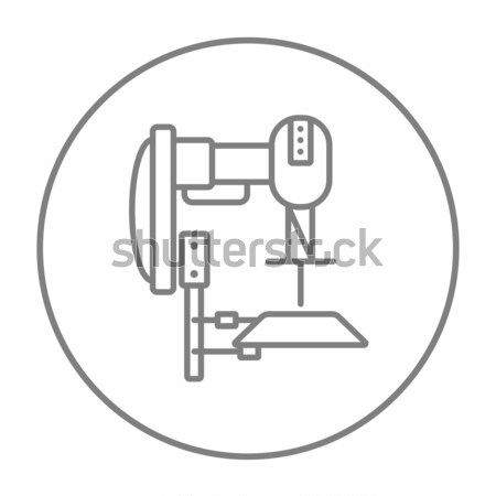 Stock photo: Industrial automated robot line icon.