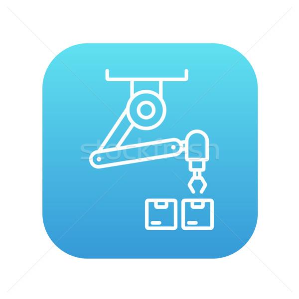 Photo stock: Robotique · emballage · ligne · icône · web · mobiles