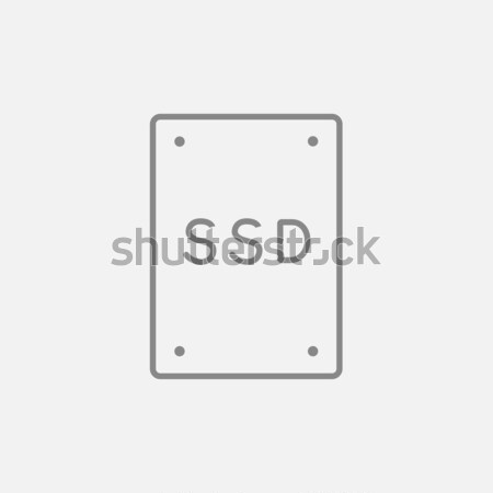 Solid state drive line icon. Stock photo © RAStudio