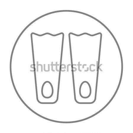 Flippers line icon. Stock photo © RAStudio