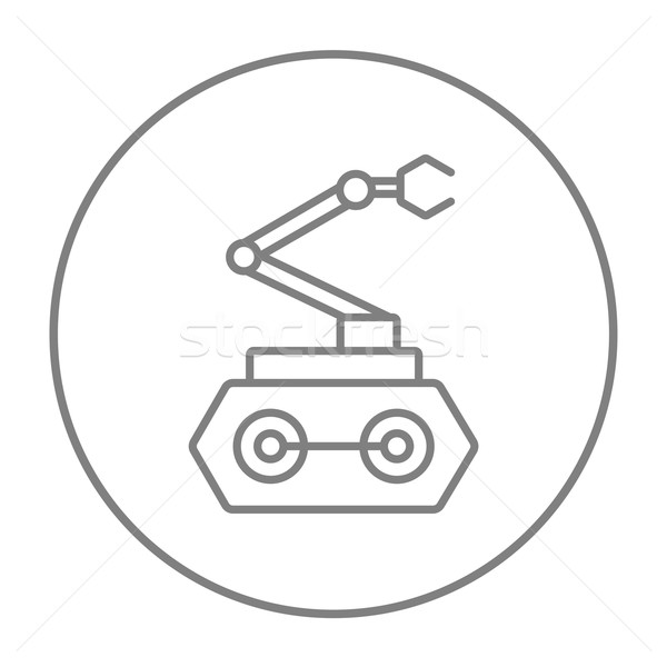 Industrial mechanical robot arm line icon. Stock photo © RAStudio