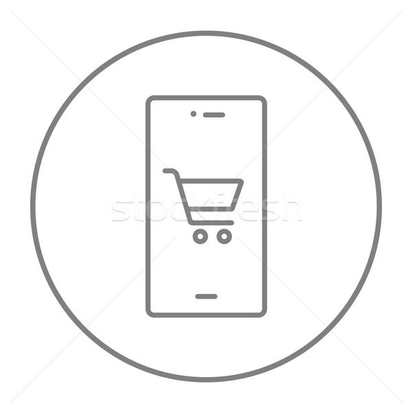 Online shopping line icon. Stock photo © RAStudio