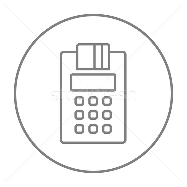 Cash register line icon. Stock photo © RAStudio