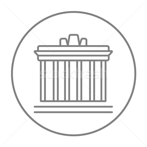 Acropolis of Athens line icon. Stock photo © RAStudio