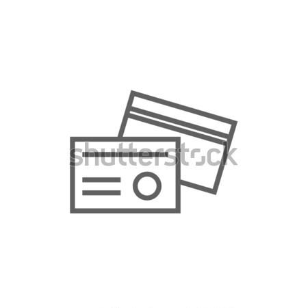 Identificación tarjeta línea icono esquinas web Foto stock © RAStudio