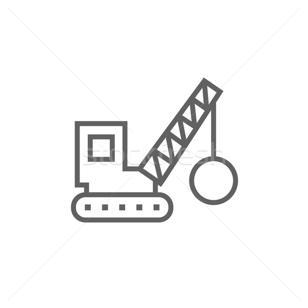 Demolition crane line icon. Stock photo © RAStudio