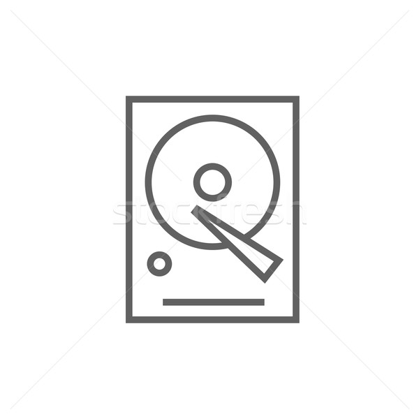 Hard disk line icon. Stock photo © RAStudio