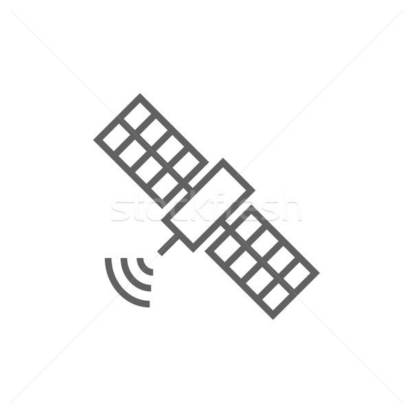 Satellite ligne icône web mobiles infographie Photo stock © RAStudio