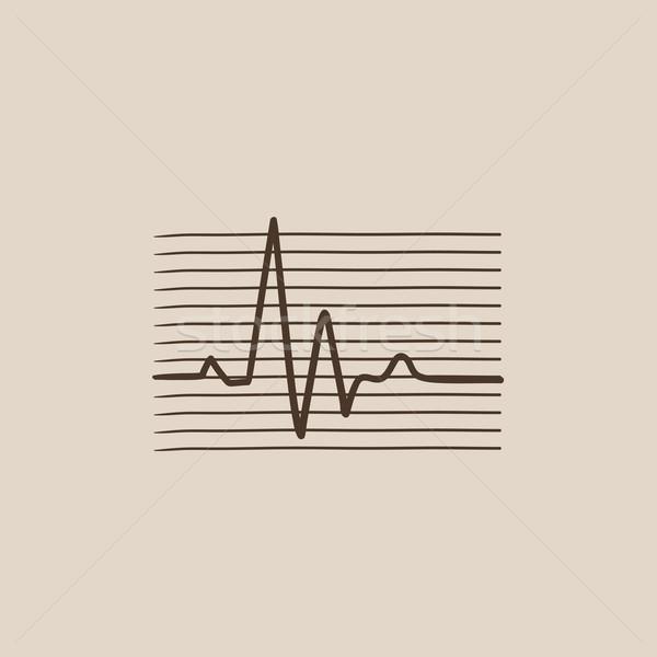 Vencer cardiograma boceto icono web móviles Foto stock © RAStudio