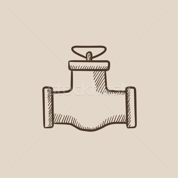 Gas pipe valve sketch icon. Stock photo © RAStudio