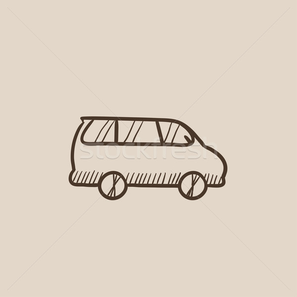 Minivan sketch icon. Stock photo © RAStudio