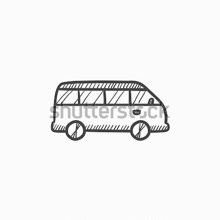Minibus sketch icon. Stock photo © RAStudio
