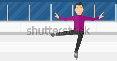 男性 図 スケート アジア ストックフォト © RAStudio