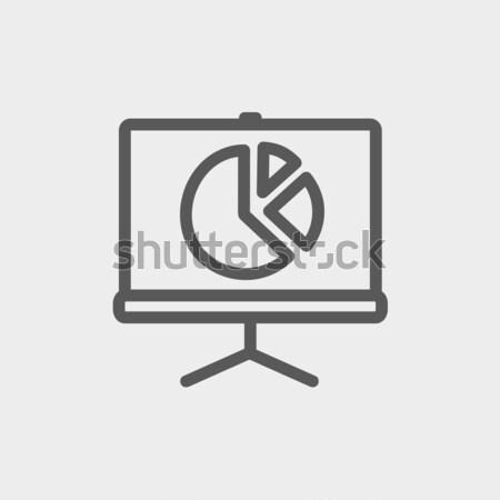 画面 円グラフ 行 アイコン コーナー ウェブ ストックフォト © RAStudio