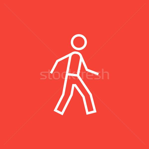 Pedestrianism line icon. Stock photo © RAStudio