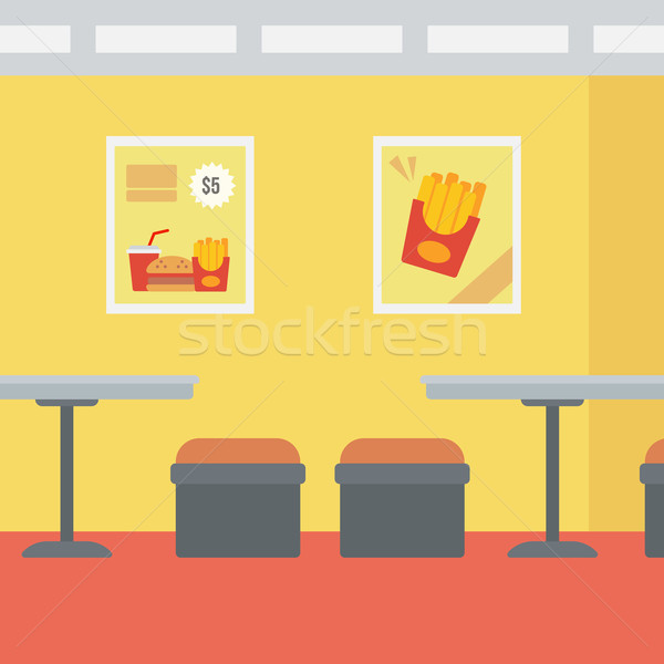 Fastfood restaurant vector ontwerp illustratie vierkante lay-out Stockfoto © RAStudio