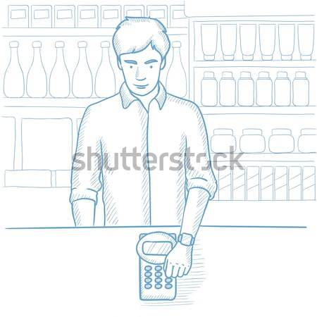 Man paying with smart watch. Stock photo © RAStudio