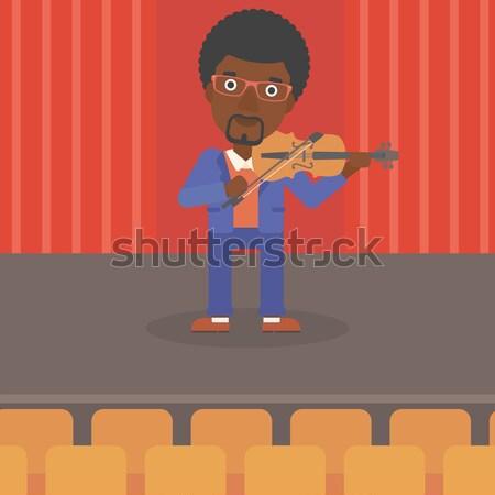 Man playing violin. Stock photo © RAStudio