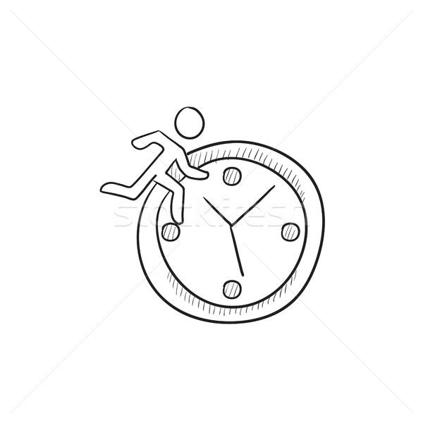 Időbeosztás rajz ikon vektor izolált kézzel rajzolt Stock fotó © RAStudio