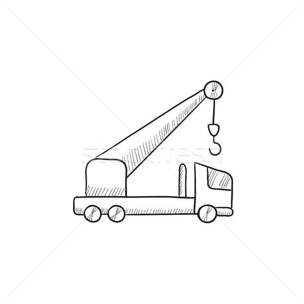 Mobile crane sketch icon. Stock photo © RAStudio