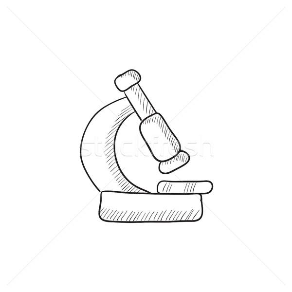 Microscope sketch icon. Stock photo © RAStudio