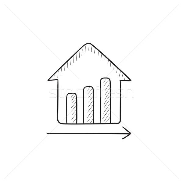 Growth of real estate prices. Stock photo © RAStudio