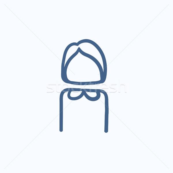 деловой женщины эскиз икона вектора изолированный рисованной Сток-фото © RAStudio