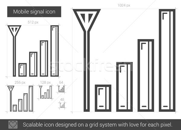 Hareketli sinyal hat ikon vektör yalıtılmış Stok fotoğraf © RAStudio